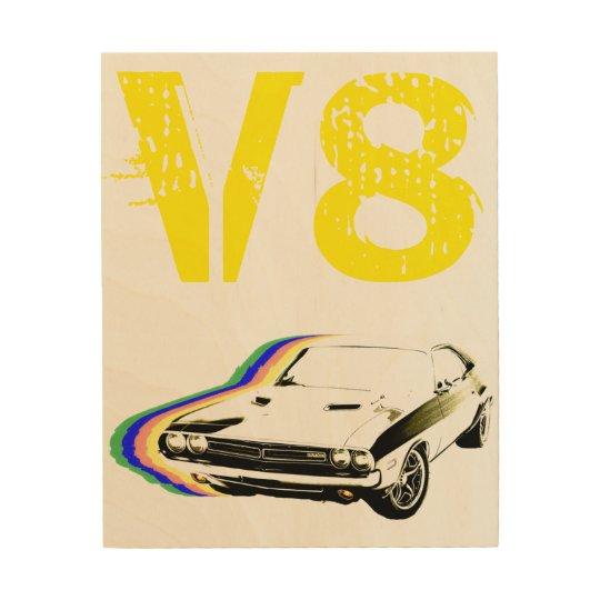 V8 Muscle! Wood Print