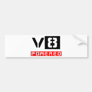 V8  powered bumper sticker
