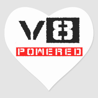 V8  powered heart sticker