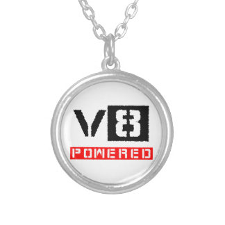 V8  powered silver plated necklace
