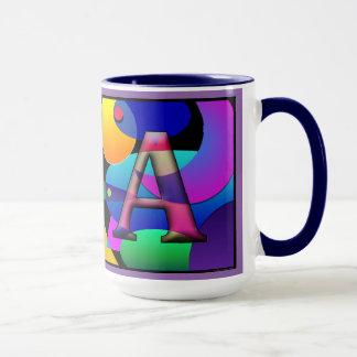 """""""V"""" & """"A"""" Monogrammed coffee mug"""
