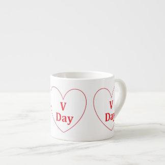 V Day Espresso Mug