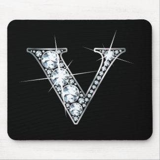 """V"" Diamond Bling Mousepad"