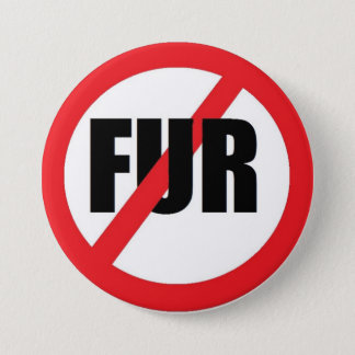 V-fur 3 Inch Round Button