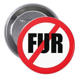 V-fur 3 Inch Round Button