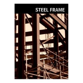 V Header - Photo - Steel Frame Construction Large Business Card