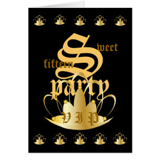 V I P Sweet 15 Party Invitation !-Customize