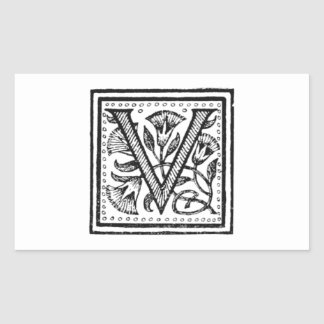 V Initial from A Monk of Fife