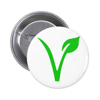 V is for Vegan 2 Inch Round Button