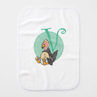 V is for Vulture Burp Cloth