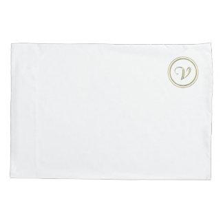 """V"" Monogram Pillowcase"