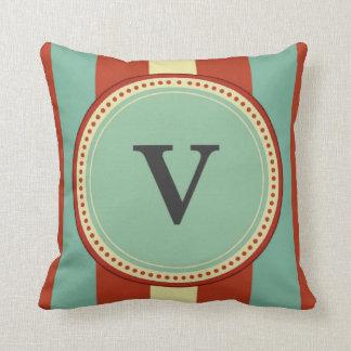 'V' Monogram Throw Pillow