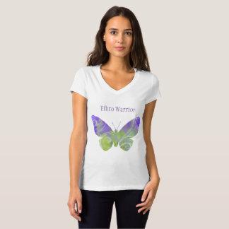 V Neck Fibro Butterfly Tshirt