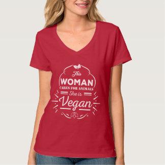 V-Neck T-Shirt Designed for Hardcore Vegans