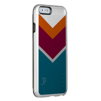 V Patterned Personalized Orange, Hot Pink & Teal Incipio Feather® Shine iPhone 6 Case