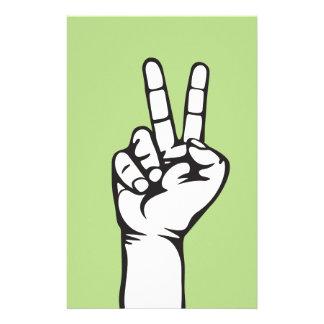 V-sign hand stationery design