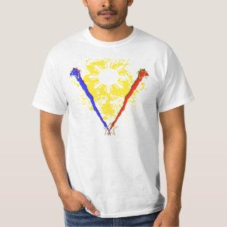 V style Philippine Flag shirt