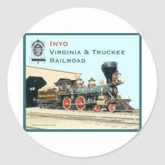 V&T Railroad Inyo engine Classic Round Sticker