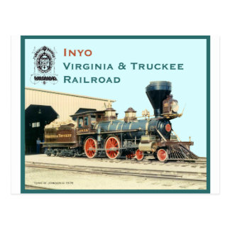 V&T Railroad Inyo engine Postcard