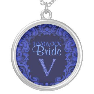 V - The Falck Alphabet Blue Necklace