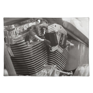 v twin motorbike engine placemats
