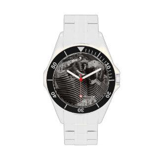 V twin wrist watch