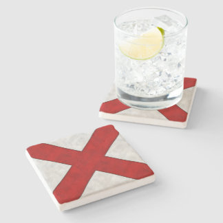 V Victor Watercolor Nautical Signal Maritime Flag Stone Coaster