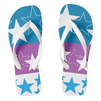 Va-cA blue 'n purple flip flops for her by DAL