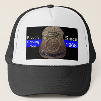 VA State Trooper Thin Blue Line Trucker Hat