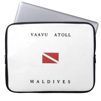 Vaavu Atoll Maldives Scuba Dive Flag Laptop Computer Sleeve