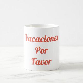 Vacaciones Por Favor Mug