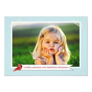 Vacances de carte de photo de du cardinal 3 de carton d'invitation  12,7 cm x 17,78 cm