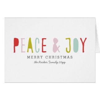Vacances de joie d'hiver carte de correspondance