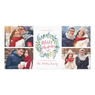 Vacances de photo de la collection 4 de guirlande cartes de vœux avec photo