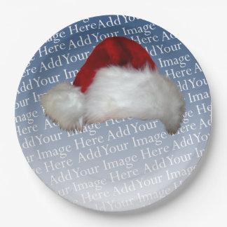Vacances d'image de Noël de modèle photo de Assiette En Papier 22,8 Cm