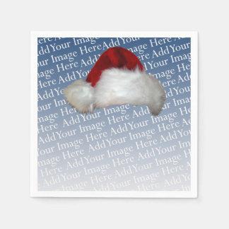 Vacances d'image de Noël de modèle photo de Serviette En Papier