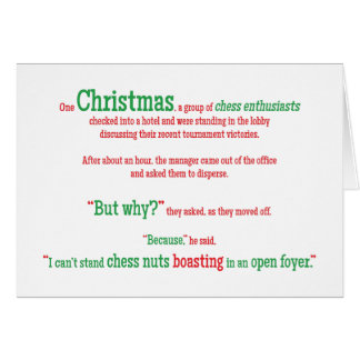 Vacances drôles de Noël de Noël de mot de Carte De Vœux