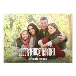 Vacances Joyeux Noël cartes photo Custom Invitations
