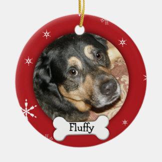 Vacances personnalisées de photo de chien/animal décoration de noël
