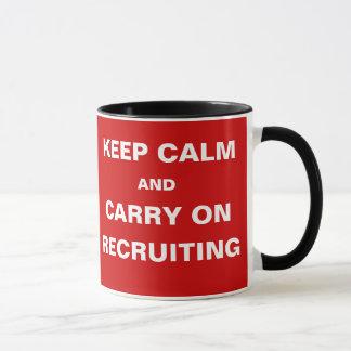 Vacancies -Keep Calm Recruiting Recruitment Slogan Mug