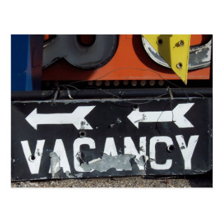 Vacancy Sign Postcard