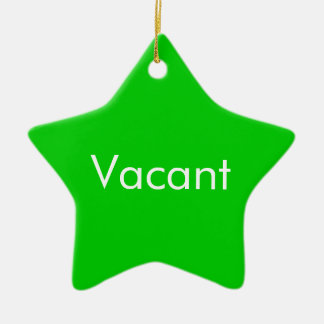 Vacant Occupied two sided Door Hang Ceramic Ornament