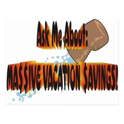 Vacation $avings 2.0 postcard