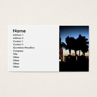 Vacation Business Card