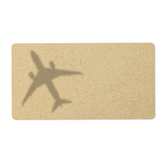 Vacation Concept. Sandy Beach With Shadow Plane