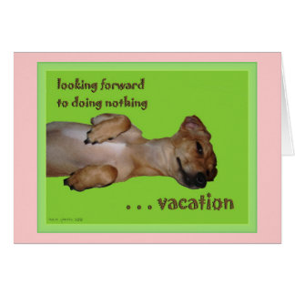 Vacation Customizable Haiku Greeting Card