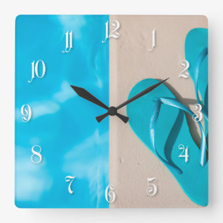 Vacation details square wall clock