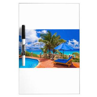 Vacation Getaway Dry Erase White Board