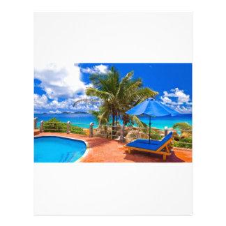 Vacation Getaway Customized Letterhead