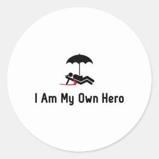 Vacation Hero Classic Round Sticker